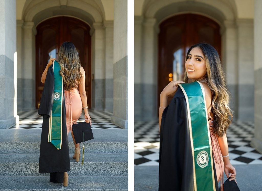 Sac State Grad at the State capitol