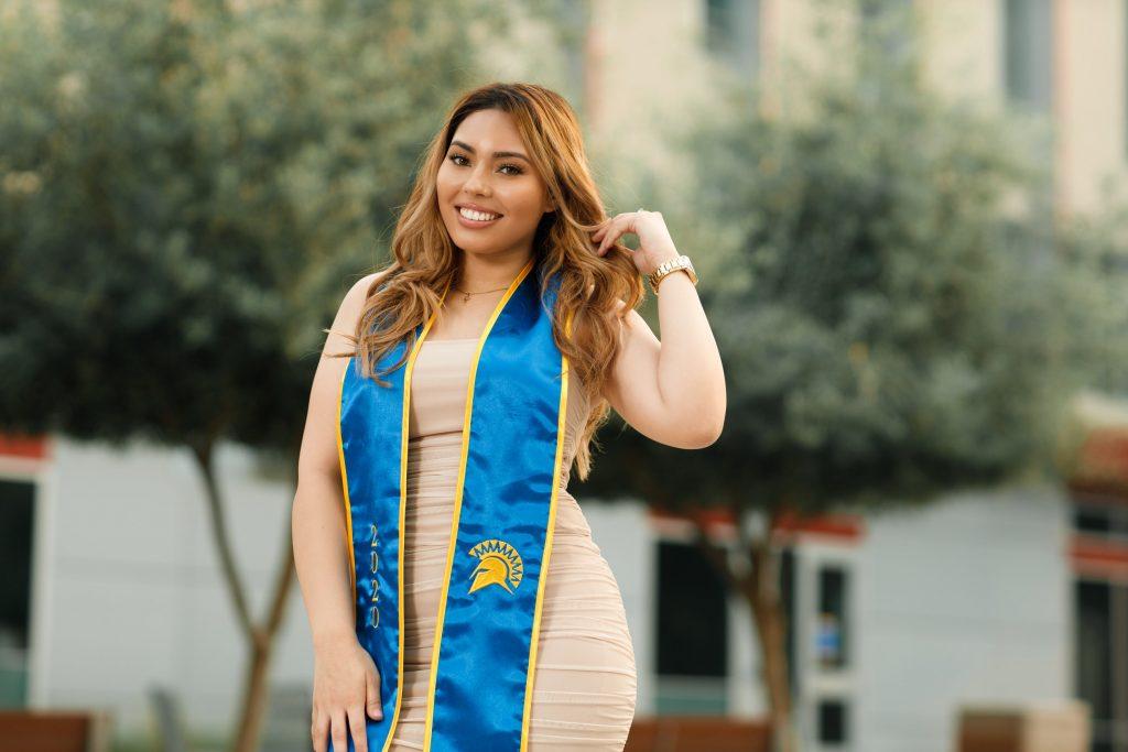 Graduation photos at SJSU